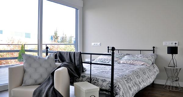 Dormitorio con salida a terraza