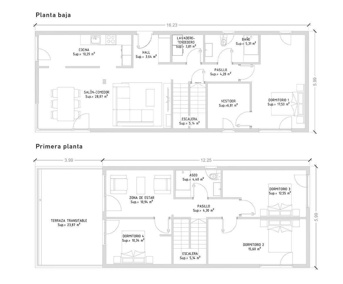Cube 175 m2 - 4 dormitorios