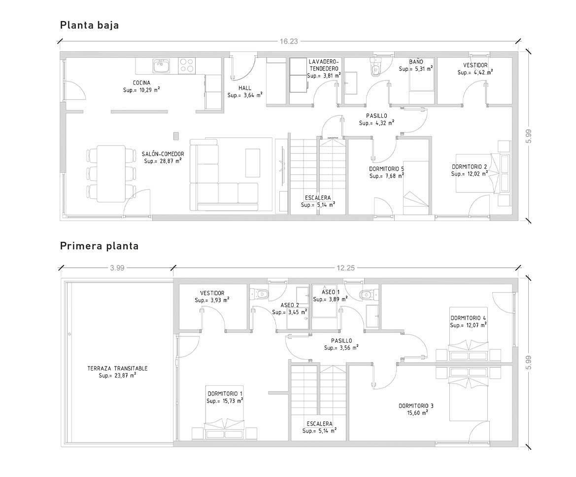 Cube 175 m2 - 5 dormitorios
