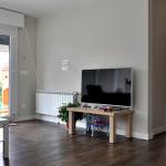 Salón de casa prefabricada Cube de 75 m2