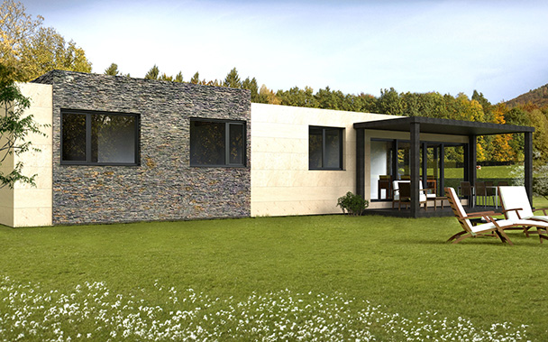 Modelos cube casas prefabricadas y modulares cube - Casas modulares barcelona ...