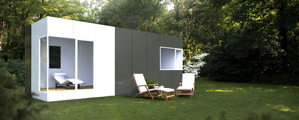Casas modulares Cube - Módulo prefabricado Cube Basic 24