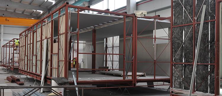 Estructura de una casa prefabricada Cube