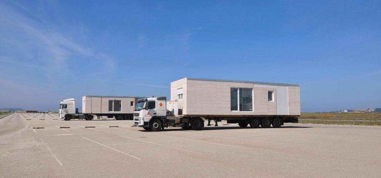 Transporte de casa modular Cube