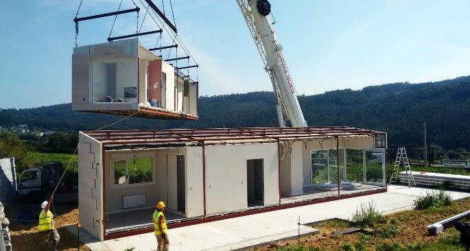 El d a de la instalaci n casas prefabricadas y modulares - Modulos de vivienda prefabricados ...