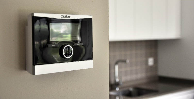 Control calefacción en casa modular Cube