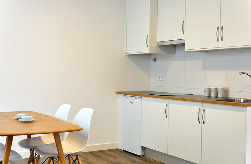 Cocina en casa prefabricada Cube 50