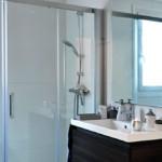 Baño de casa prefabricada de 150 m2