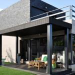 Porche en casa prefabricada Cube 157 m2
