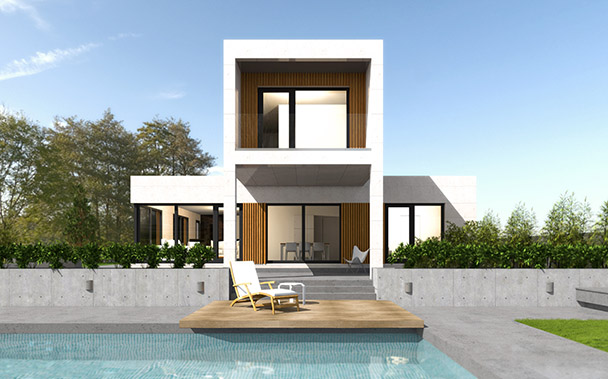 Cube premium 200 m2 casas prefabricadas y modulares cube - Cube casas prefabricadas ...