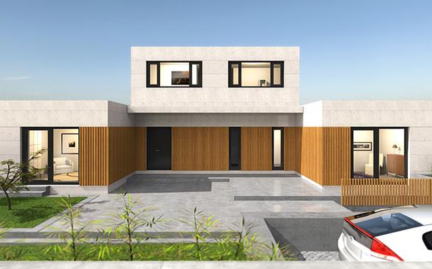 Cube premium 300 casas prefabricadas y modulares cube - Casas prefabricadas cube ...