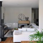 Salón de casa prefabricada Cube 157 m2