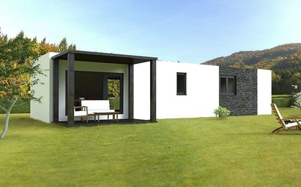 casa modular basic 62 trasera
