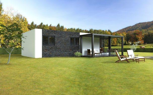 casa modular basic 75 trasera