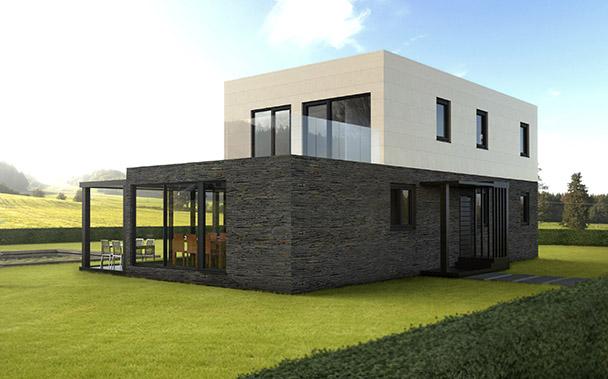 Casa prefabricada modular 175 metros, fachada