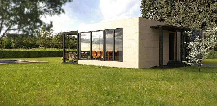 Casa prefabricada 75 m2, fachada