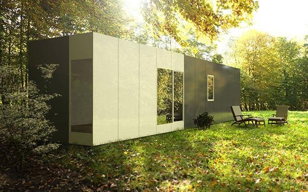 Casa prefabricada modular 36 metros, lateral