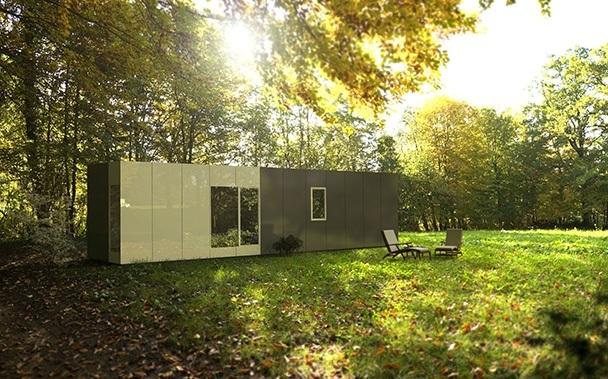 Casa prefabricada modular 36 metros, fachada
