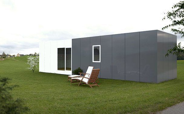 cube basic 50 m2 casas prefabricadas y modulares cube. Black Bedroom Furniture Sets. Home Design Ideas