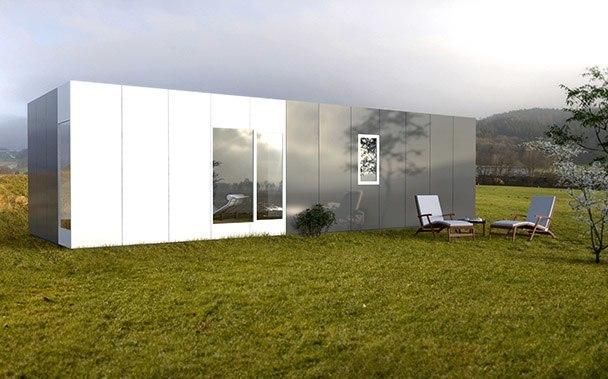 Casa prefabricada modular 50 metros, fachada