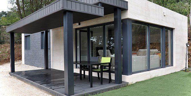 Casa prefabricada, exterior