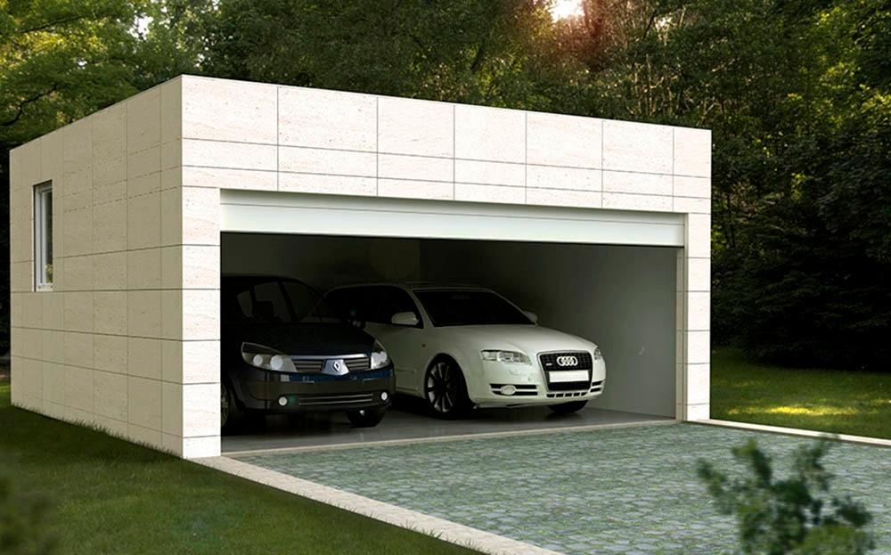 Garaje prefabricado Cube 2 plazas