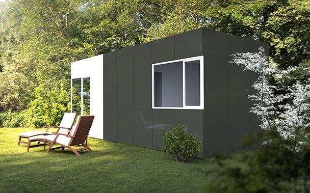 Módulo prefabricado 24 m2 trasera