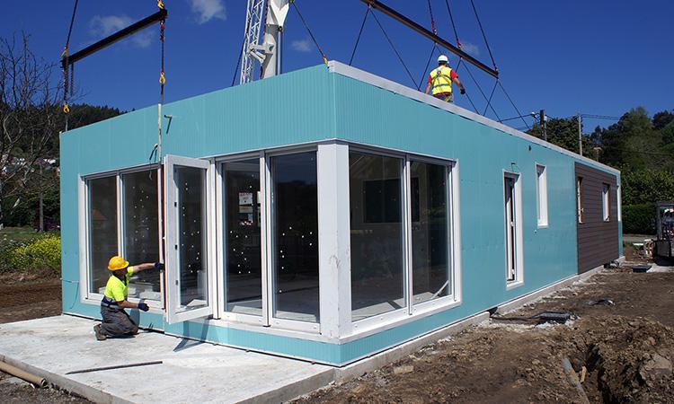 El d a de la instalaci n casas prefabricadas y modulares cube - Casas prefabricadas cube ...