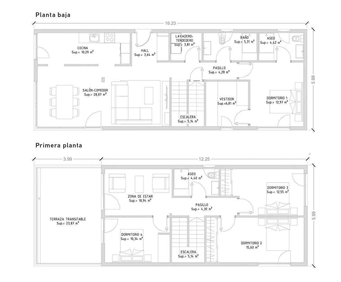 cube 175 m2 casas prefabricadas y modulares cube. Black Bedroom Furniture Sets. Home Design Ideas
