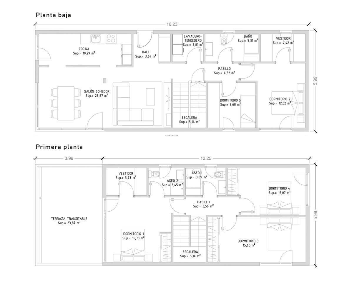 Cube 175 m2 casas prefabricadas y modulares cube for Planos de habitaciones