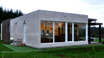 Fachada de casa prefabricada Cube 100 m2