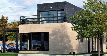 Casa prefabricada piloto en Madrid, exterior