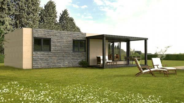 Cube 62 m2 casas prefabricadas y modulares cube - Casas prefabricadas alemania ...