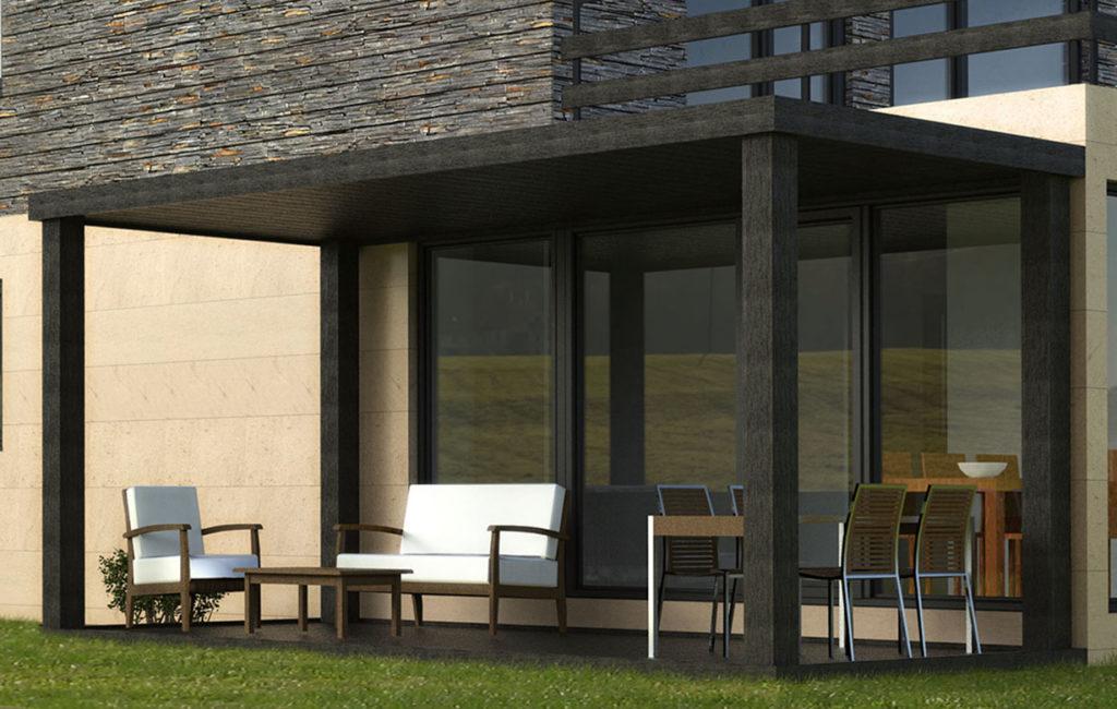 Porches prefabricados casas prefabricadas y modulares cube - Casas con porche ...