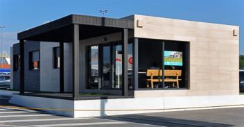 Casa prefabricada piloto Asturias - Porche