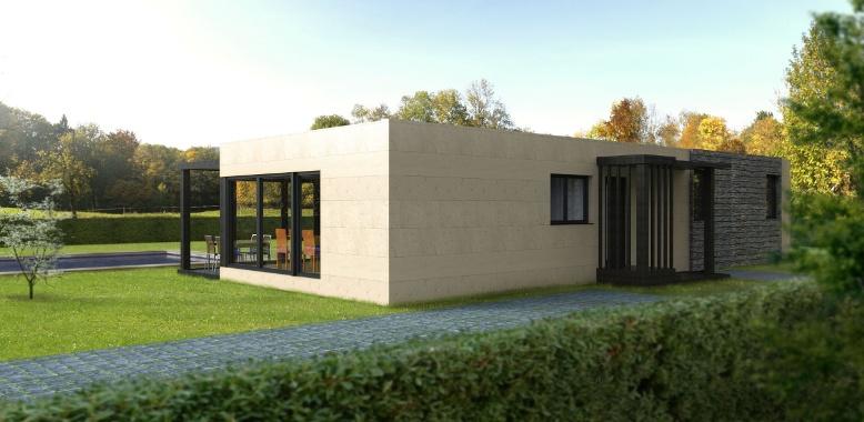 Casa prefabricada Cube 100 metros, fachada