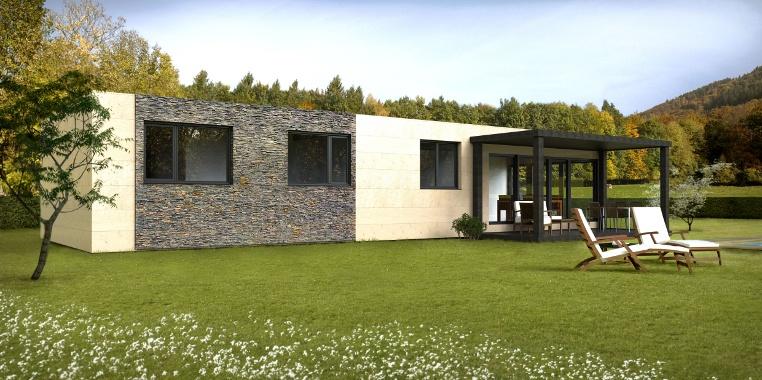 Cube 100 m2 casas prefabricadas y modulares cube - Precio casas prefabricadas de hormigon ...