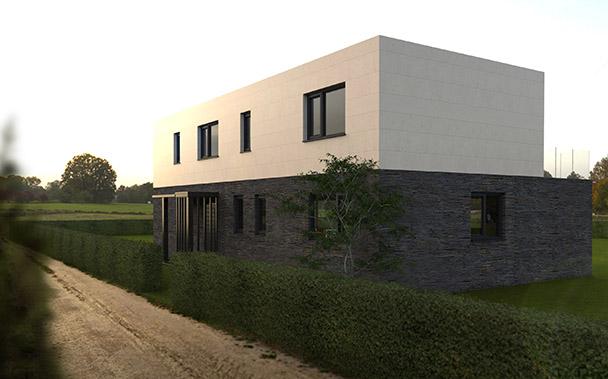 Casa prefabricada modular 250 metros, fachada