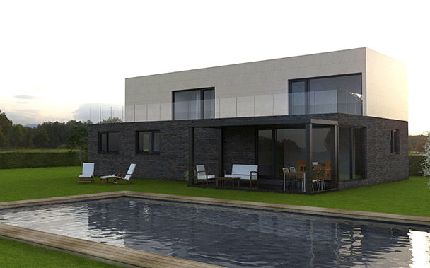 Cube 250 m2 casas prefabricadas y modulares cube - Cube casas prefabricadas ...