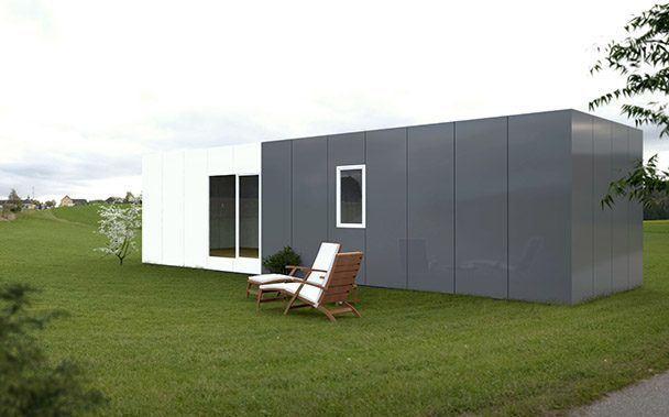Casa prefabricada 50 m2 trasera