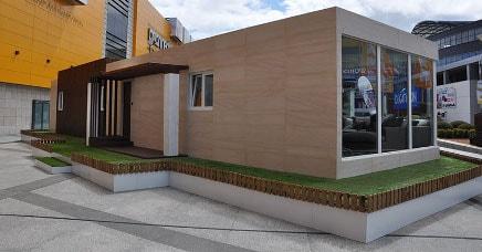 Casa prefabricada piloto en Coruña, vista exterior