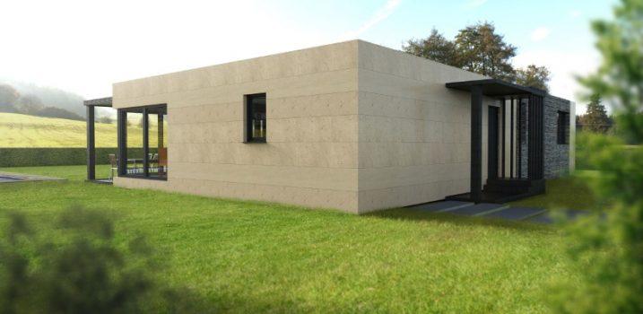 Casa prefabricada modular 150 metros, fachada