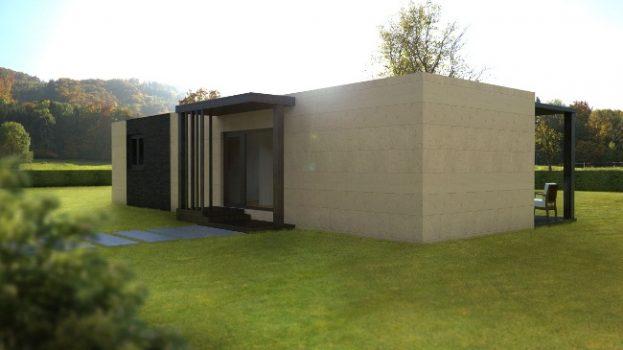 Casa prefabricada modular 62 metros, fachada
