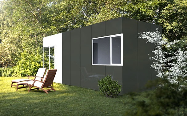 m dulo basic 24 m2 casas prefabricadas y modulares cube. Black Bedroom Furniture Sets. Home Design Ideas